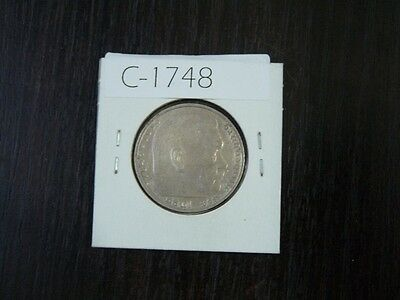 Vintage Coin Germany Third Reich 1936 D   2  Marks Silver  Value 24.00   C1748