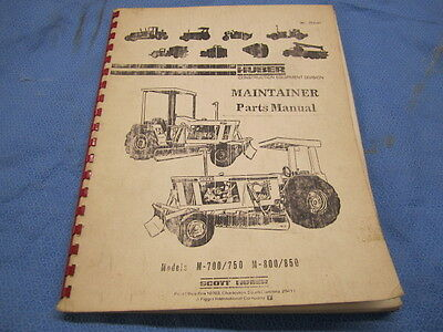 Huber Maintainer M-700/750 M-800/850 Parts Manual