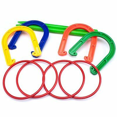 Plastic Horseshoe and Ring Toss Game Set 2 in 1 by K-Roo Sports