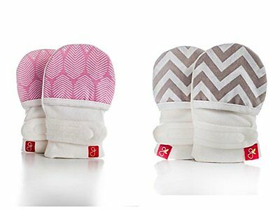 Goumikids Goumimitts Soft Stay On Scratch Mittens  Stop Scratches and Germs