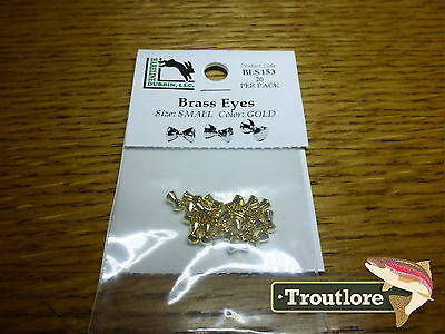 Hareline Brass Eyes Extra Small Gold Dumbbell New Streamer Fly Tying Material