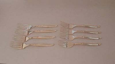"International Silver Sweep Set of EIGHT 6 1/4"" Salad Forks"