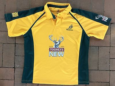 POLO SHIRT WALLABIES ONE TEAM 2011 size 2XL Embroidered logo KooGaa Polyester