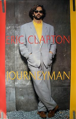 Rare Eric Clapton Journeyman 1989 Vintage Orig Music Record Store Promo Poster