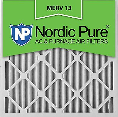 Nordic Pure 20x20x2 MERV 13 Pleated AC Furnace Air Filter Box of 3 2in
