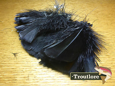 Hareline Black Intruder Prop Hackle Turkey Feathers - New Fly Tying Materials