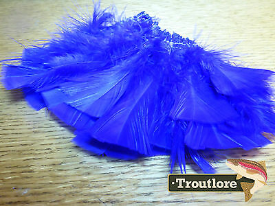 Hareline Bright Purple Intruder Prop Hackle Turkey Feathers - New Fly Tying
