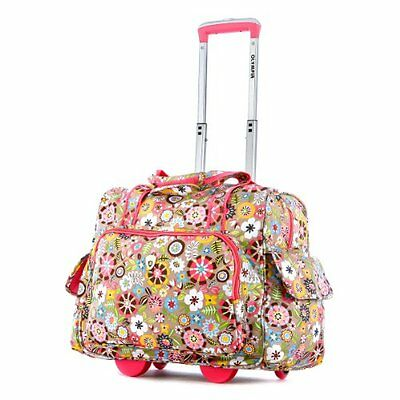 Olympia Deluxe Fashion Rolling Overnighter Tulip One Size