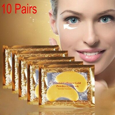 1-10 Pairs Gold Moisturizing Skin Care Gel Collagen EYE Hydrating Face Masks New