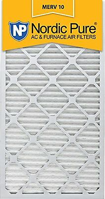 Nordic Pure 20x30x1 MERV 10 Pleated AC Furnace Air Filter Box of 6