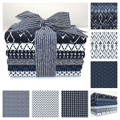 BATIK INDIGO PRINT BLUE NAVY cotton fabric METRE OR BUNDLE dressmaking quilting