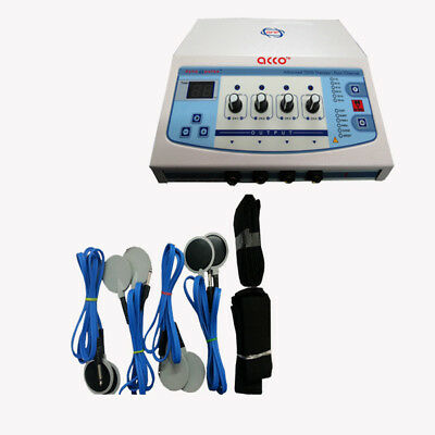 Portable Electric Stimulator 4ch Electrotherapy Physical Therapy Machine ERT%6&
