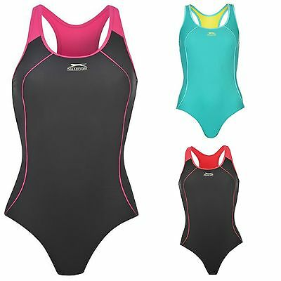 Slazenger Ladies Racer Back Swimming Costume Swim Suit Size 6 8 10