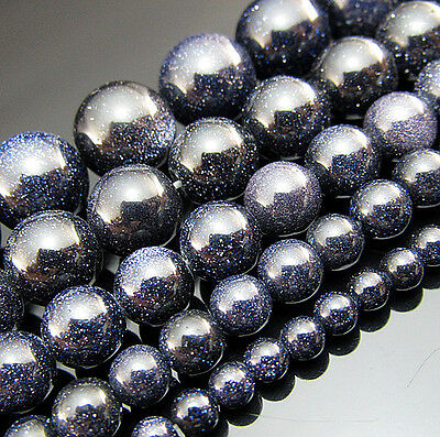 "Free 15"" Natural Blue gravel Gemstone Round spacer Beads 4mm 6mm 8mm 10mm 12mm"