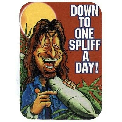 Down To One Spliff A Day - Aufkleber Sticker #310 Drugs Joint Cannabis Grass FUN