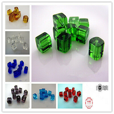 Free 200pcs 31.5Inch Glass Crystal Square Cube Dream Beads 4x4mm  8 Color U pick
