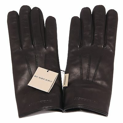 1483S guanti uomo BURBERRY pelle nero accessori uomo gloves men