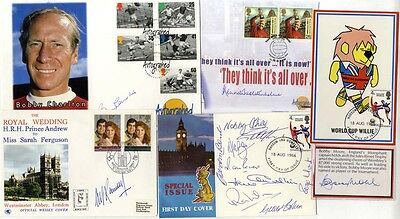 1966 World Cup Winners collection of signatures on first day covers and . . .