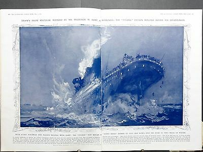 1912-ILLUSTRATED LONDON NEWS- WHITE Star Liner TITANIC Disaster Rescue CARPATHIA