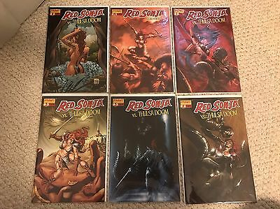 Red Sonja Thulsa Doom 1 2 3 One-shot Dell'otto Conrad Lot Variant