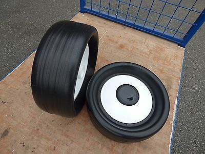A Pair Of New Golf Cart Trolley Wheels,kaddie Boy,fraser & Top Cart *no Clutch*