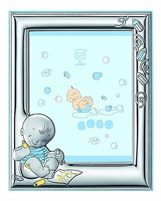 Silver Touch USA Sterling Silver Picture Frame and Booklet Set Baby Boy