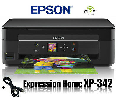 Epson Xp-342 Multifunktions Drucker Scanner Kopierer Wifi Wlan Airprint * Neu *