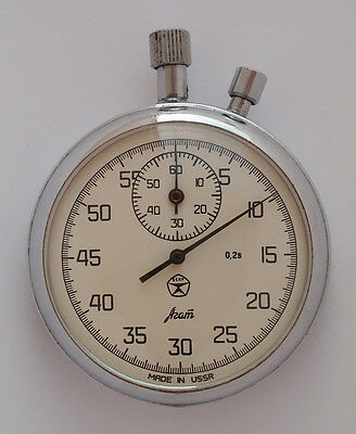 AGAT Vintage USSR Russian Soviet stop watch stopwatch Chronometer 16 jewels 7733