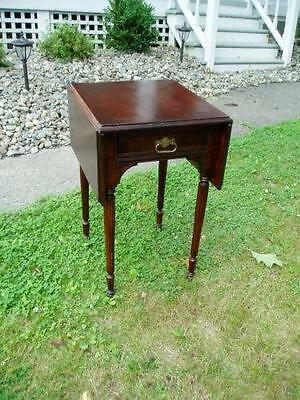 Sweet Little Antique Drop Leaf Work Table