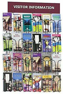 Displays2go Wall Mounted Brochure Rack 24-Pocket 4in x 9in Pamphlet Organizer St