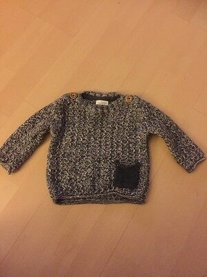 Next Baby Boy Knitted Jumper 3-6 Months Stylish/lovely Grey/white  Free P+P