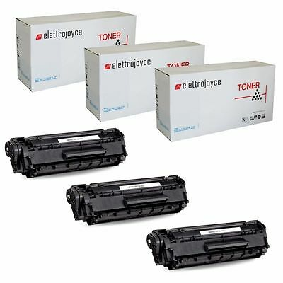Q2612A - Kit 3 Toner Compatibile Per Hp Laserjet M1005 1010 1012 1015 1018 1020