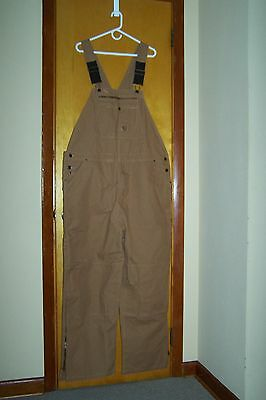 Berne Men's Unlined Duck Bib Overall Size 46 X 30