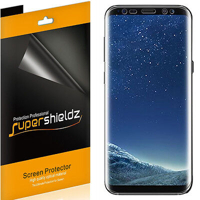 2X Supershieldz Clear Full Coverage Screen Protector for Samsung Galaxy S8