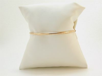 Rose polish finish 2.65 diameter bangle 14K Gold Bracelet JA0278
