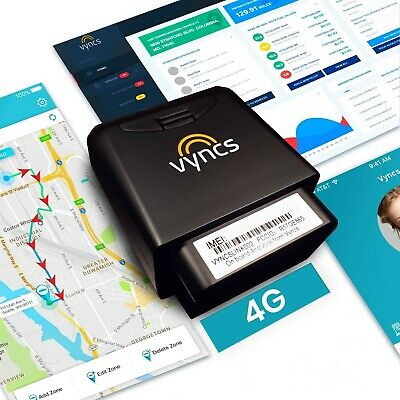 GPS Tracker Vyncs No Monthly Fee OBD, Real Time 3G Car GPS Tracking Trips Fuel