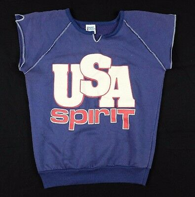 Vtg 1970s USA Spirit Sweatshirt Youth Large american pride