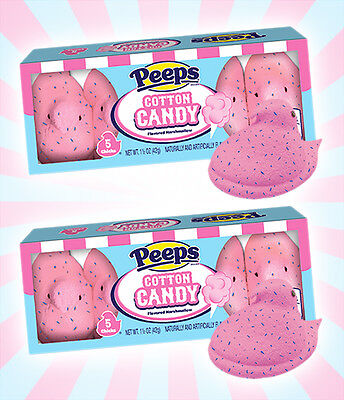 x2 Peeps Cotton Candy Easter Limited Edition Marshmallow Candy - 10 Chicks Total