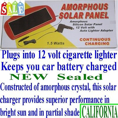 Solar Panel 12V 1.5W  Battery Charger For Car Truck Boat - from CALIFORNIA