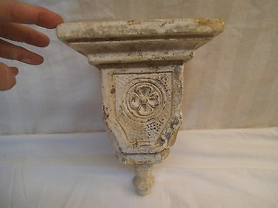 Antique Architectural Salvage - Cast Mortar Corbel Sconce Shelf - Square Nails