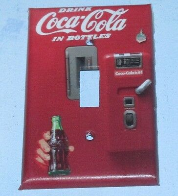 Coke Coca Cola Vintage Machine LIGHT SWITCH OR OUTLET COVERS HANDMADE Plate
