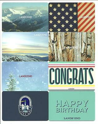 Lot of (8) Different Lands' End Gift Cards No $ Value Collectible