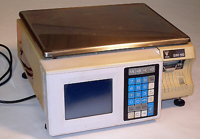 DIGI SM90 SM-90 TB Version Digital Programmable Touch Screen Printing Scale