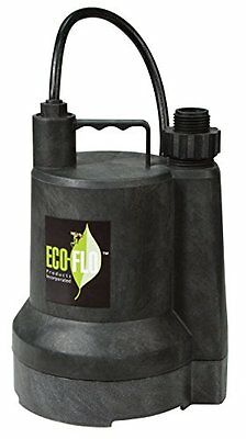 ECO-FLO SUP54 Manual Submersible Utility Pump 1/6 HP 1,680 GPH