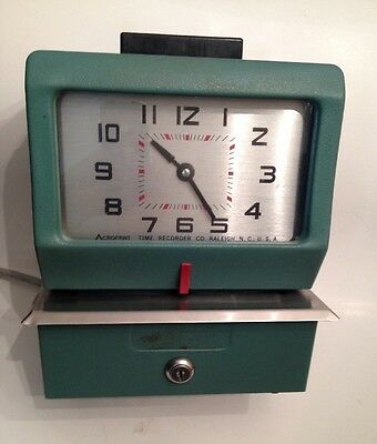 ACROPRINT Heavy Duty Manual Time Recorder Clock Punch . 125PR4. Key not Included