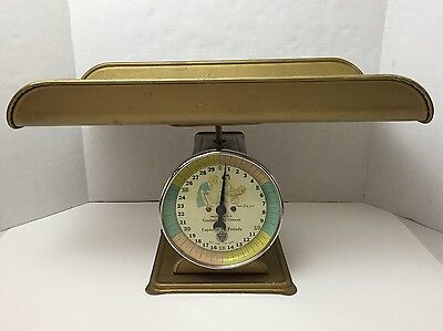 Vintage Baby Scale Paragon Furniture Company Nursery Gold 30 Pound Capacity