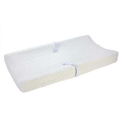 Carter's Baby Super Soft Popcorn Velboa Changing Pad Cover, Ecru