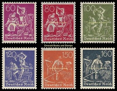 EBS Germany 1921 Workers - Blacksmiths Miners Farmers Michel 165-170 MNH**