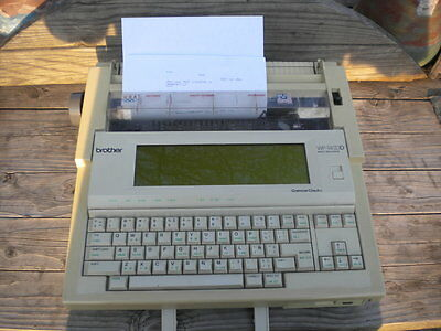 Brother USA WP1400D Word Processor Portable Electric Type Writer WORKS TESTED