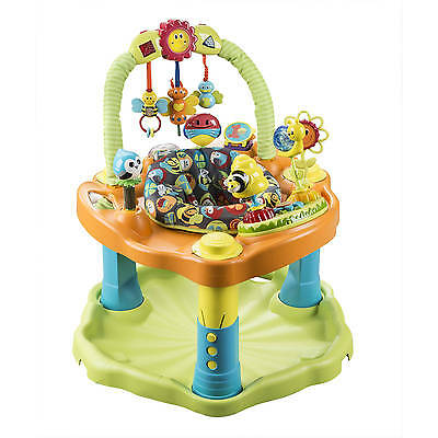 Baby Exersaucer Activity Center Jumper Baby Bouncer Evenflo Double Fun Bumbly